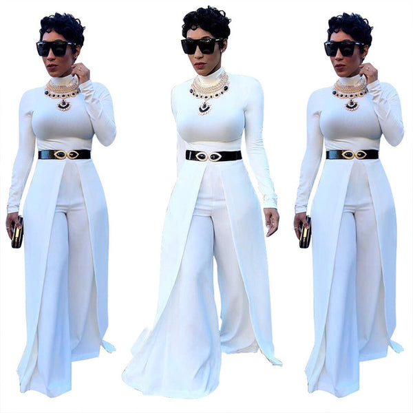 16a1757ada9c ... 2018 New Arrival Fashion Cool Women Jumpsuits Long Sleeve Sexy Slim  Lady Rompers Casual Loose Women ...
