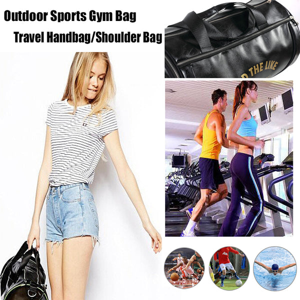 ... 2018 Top PU Outdoor Sports Gym Bag Men Women with Shoes Storage  Training Fitness Multifunction Shoulder f5f74bcaedf6c
