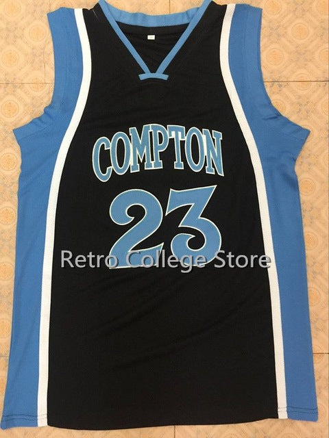 meet 1c798 1ba42 #23 DEMAR DEROZAN COMPTON High School Jersey Retro throwback College Cheap  mens Embroidery stitching Customize any name number