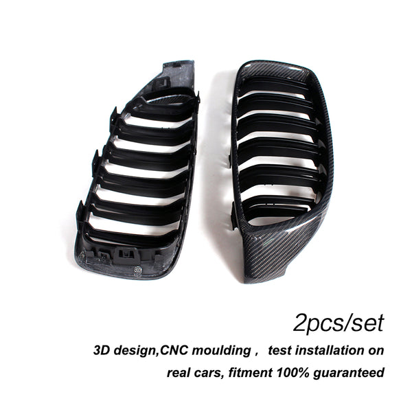 4 Series Carbon Fiber Car Front Bumper Grill Mesh Grille for