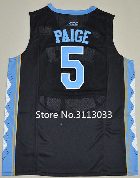 purchase cheap c2219 416a7 #40 Harrison Barnes #5 Marcus Paige #11 Brice Johnson North Carolina Tar  Heels College Basketball Jersey All Size
