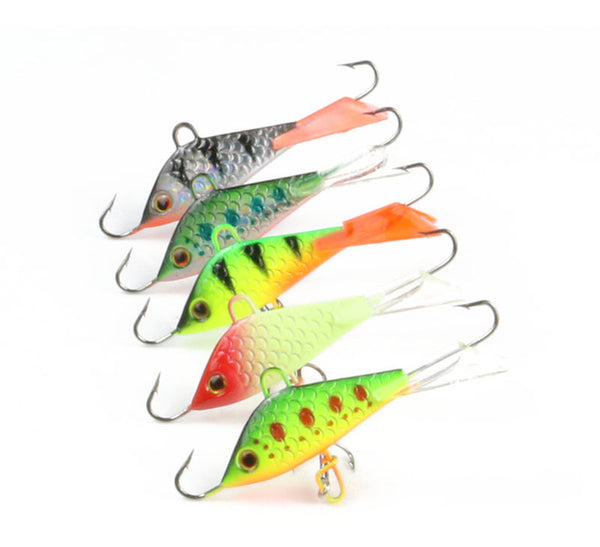 5 Pieces Vertical Jigging Lead Fish Bait 5cm 7 4g Winter Ice Fishing Lure  Fishing Hook Ice Balance Fish Jigs