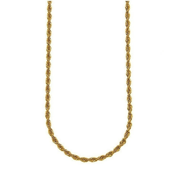 878194a7fcb6c4 ... 18k Gold Long Chain Necklace Men Jewelry Brand Gothic Gold Color Male  Necklace Gifts(Size ...
