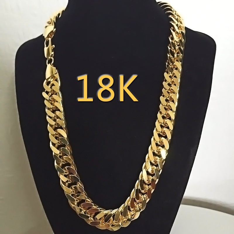 18k Gold Mens Jewelry Set 24k Yellow Gold Filled Heavy