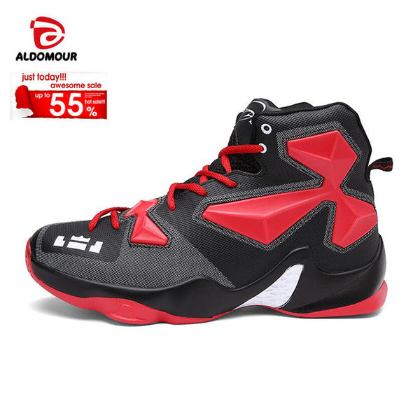 006cdcc8f005c ... ALDOMOUR Mens Boys Basketball Shoes Lebron James Shoes Plus Size36-45  Lace up Sneakers Trainers ...