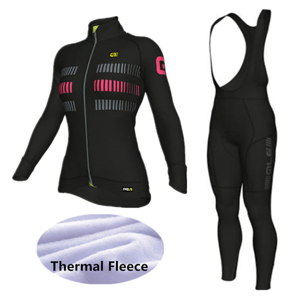 ... ALE Cycling Set Women Winter Thermal Fleece Long Sleeves Cycling  Jerseys Ropa Maillot Ciclismo Bicycle Bike ... 57b6d61c8