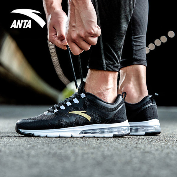 new style 6bed2 caf47 ANTA New 2018 Men Running Shoes All match Air Cushioning Comfortable  Stability Breathable Sports Shoes Sneakers 91725502