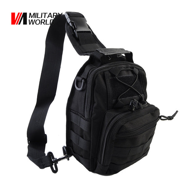 77ebf6a5dba5 Airsoft Tactical Outdoor Shoulder Messenger Bag 1000D Men Cycling Riding  Travel Chest Pack Military Hunting Molle Bags Backpack