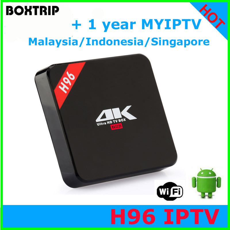 Android 6 0 RK3229 with MYIPTV IPTV account support Malaysia Singapore iptv  Indonesia Channel for Southeast Asia