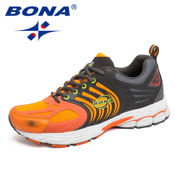 a5e33bca4aa07 ... BONA New Classics Style Men Running Shoes Lace Up Mesh Sport Shoes  Outdoor Walking Jooging Sneakers