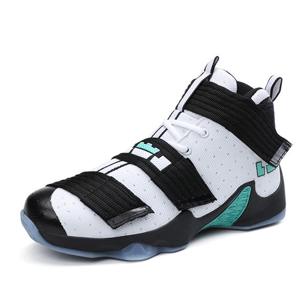 87fc1c86d64 Basketball Shoes Men Sneakers Lebron James Shoes High top Lace up Ankle  Shoes Air cushion Shockproof