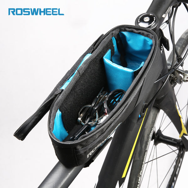 ... Bicycle Frame Bag Waterproof Bike Top Tube Bags Storage Cycling Triangle Bag ROSWHEEL ATTACK & Bicycle Frame Bag Waterproof Bike Top Tube Bags Storage Cycling ...