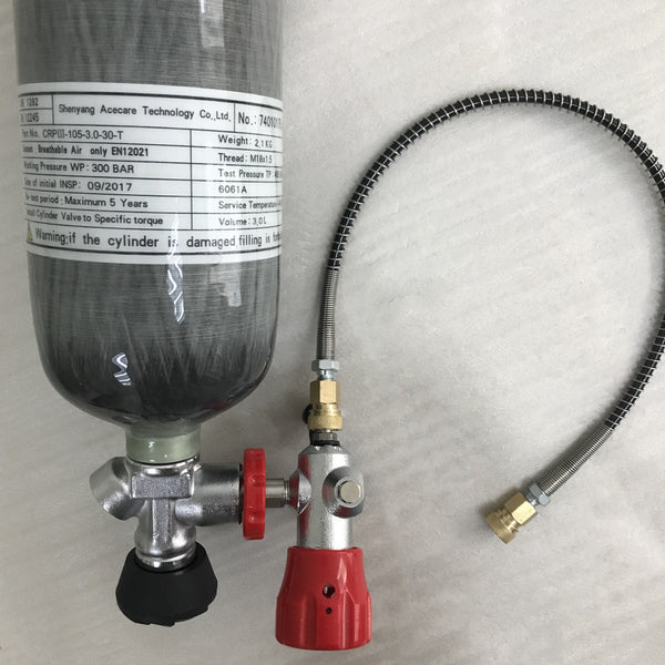 CE certified 3L carbon fiber 4500Psi cylinder with valve and fill