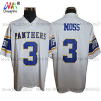 new styles 68f47 21dbb Cheap American Football Jerseys Randy Moss #3 West Virginia Dupont Panthers  High School Throwback jerseys Retro Stitched Shirts