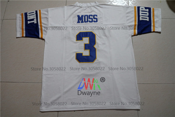 new styles ed568 1a27a Cheap American Football Jerseys Randy Moss #3 West Virginia Dupont Panthers  High School Throwback jerseys Retro Stitched Shirts
