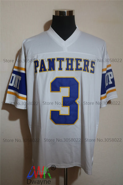 new styles 204b7 e98d0 Cheap American Football Jerseys Randy Moss #3 West Virginia Dupont Panthers  High School Throwback jerseys Retro Stitched Shirts