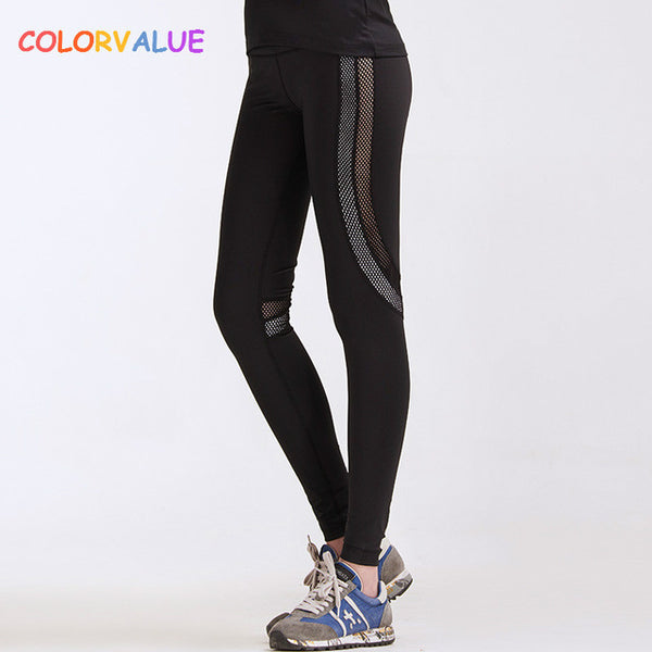 3c60d8a58f Colorvalue Breathable Fitness Yoga Pants Women Quick Dry Mesh Jogging Sport  Leggings High Waist Training Athletic ...