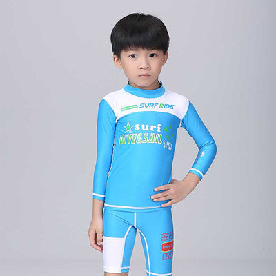 c57dc3e947 ... DiveSail girls boys swimming suits Long Sleeve shorts Floral Diving Suit  with front zipper Children Surfing ...