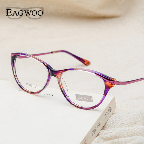 f6952d6ac0 EAGWOO Women Cat Eye Designed Eyeglasses Full Rim Optical Frame  Prescription Fashion Eye Glasses New Arrival ...