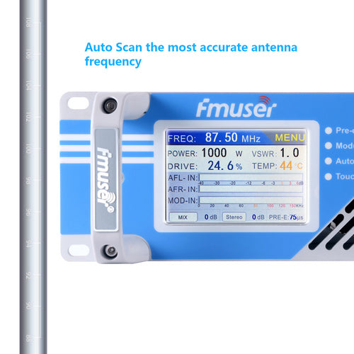 FSN-1000T DSP 1000W 1KW FM Radio Transmitter with touch screen For Radio  Stations 20-30km