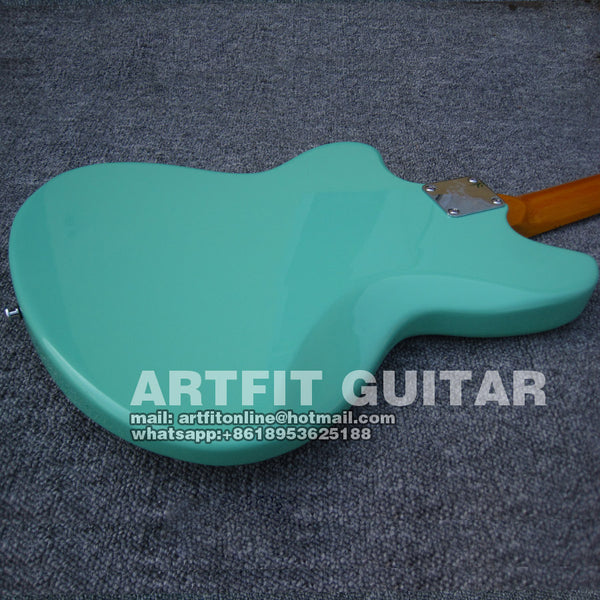 Giggle Jazzmaster Jaguar Foam Green high quality P90 pickups China Musical  Instrument Electric Guitarras Freeshipping Guitare