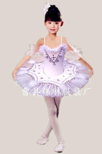 1edd010df9d6 Girls White Swan Lake Ballet Princess Dance Dress 2-8y Kids Tutu Leotard  Ballet Dance