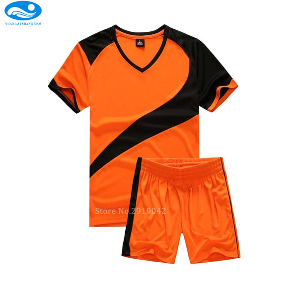 fc2e1a210 ... High quality child soccer jerseys 2016 2017 Child Kids soccer set boys  custom football jersey uniforms ...