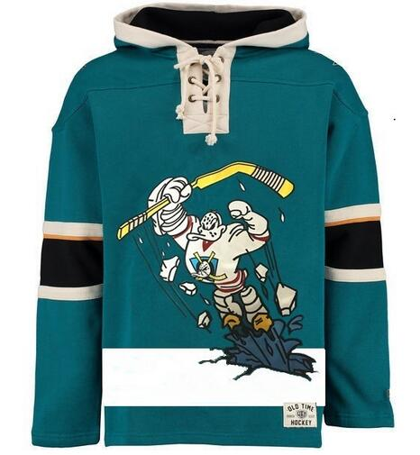 new styles abfbf 5c90d Hockey Hoodies Jersey Anaheim Mighty Ducks Charlie Conway Kariya Jersey  Pullover Hoodie Stitched ,Customize Any Name&Number