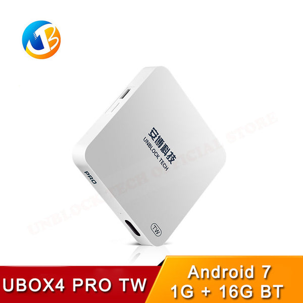 Latest UBOX4 PRO TW Version ubox gen 4 Unblock Tech TV box Android 7  Bluetooth HD UBTV IPTV smart tv Specially for Taiwan