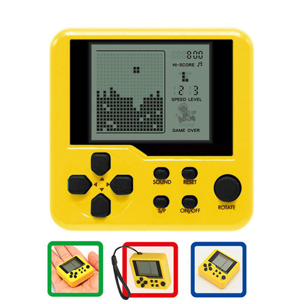 Mini Portable Children handheld game console classic Tetris game console  LCD Players Children Educational Electronic Toys