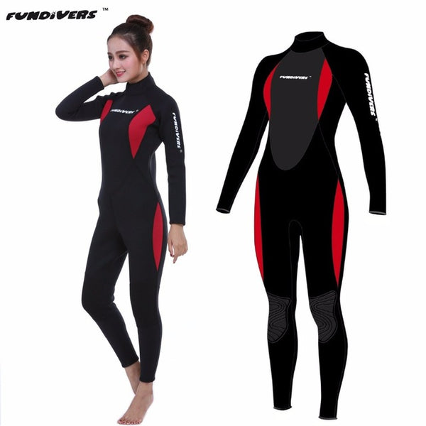 68118b0cdb ... Neoprene 3mm Scuba Dive Women Wetsuit Long Sleeve Spearfishing Surfing  Diving Swimming Jumpsuit Diving Suit SCR ...
