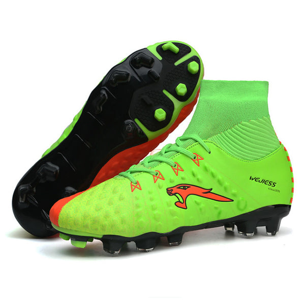 ... Newest Long Spikes Soccer Shoes Boots With Sock Football Shoes High  Ankle Football Boots Cleats For ... 245f268ee194