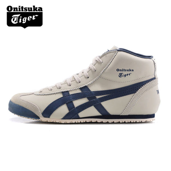 best service 6c54a c8b01 ONITSUKA TIGER MEXICO 66 Mid Runner Classics Outdoor Shoes Men Warm  Sneakers Durable Sports Shoes