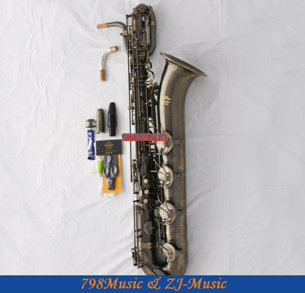 SELMER 54 Soprano Saxophone Black Nickel Gold Key Plated Professional Brass  Instruments Sax With Case Mouthpiece Hand Carved
