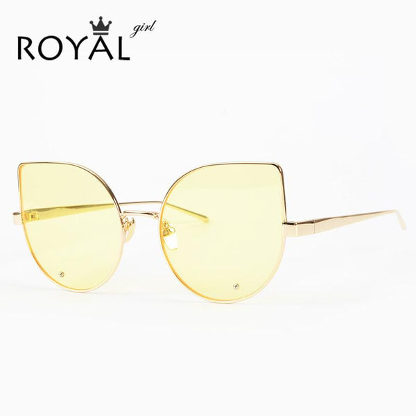 ... ROYAL GIRL Fashion Cat Eye Sunglasses Women Brand Designer Retro Female  Sun Glasses oculos de sol ... cf19018c16