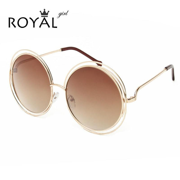 ROYAL GIRL NEW High Quality Elegant Round Wire Frame Sunglasses ...