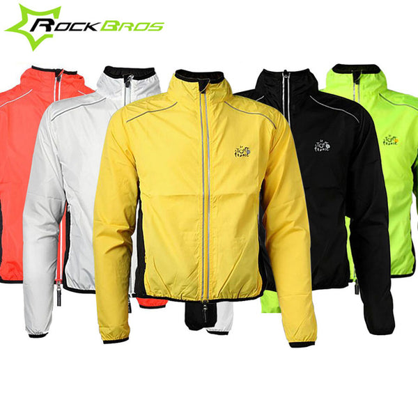 top-rated latest special promotion new product Rockbros Outdoor Men Rain Jacket Bicycle Rain coat Reflective Mtb Bike  Rainproof Rainwear Cycling Jacket Sport Hiking Rain Gear