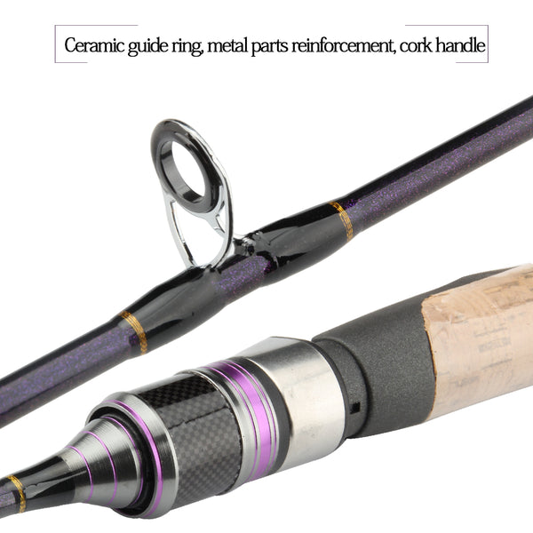 RoseWood-ULKING 1 8m(602) Solid Tip Ultra Light Soft Fishing Rod 1-7g,  2-4lb UL Trout Panfish Spinning Rod Baitcaster Rod