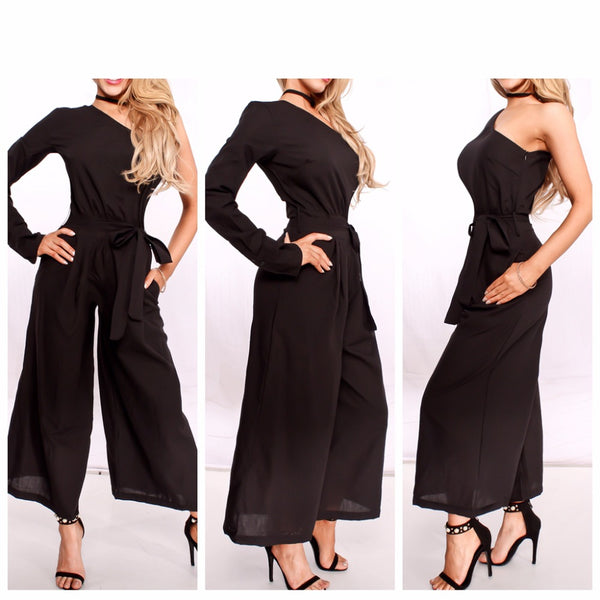 af0a1c77c4f6 ... SAUCY ANGELIA Rompers Womens Jumpsuit Sexy Irregula One Shoulder  Bodysuits Slimming Waist Party Overalls Stretchy Playsuits ...