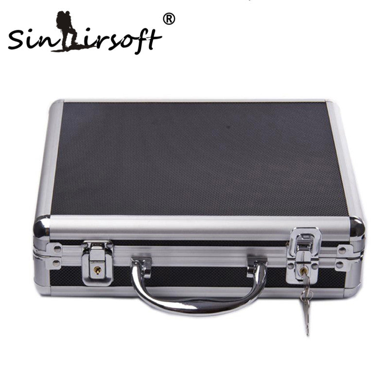 New High Quality Aluminum Alloy Tactical Hard Case Pistol Alloy Box Case Padded Foam Lining For Airsoft Hunting Case Buy One Give One Shooting