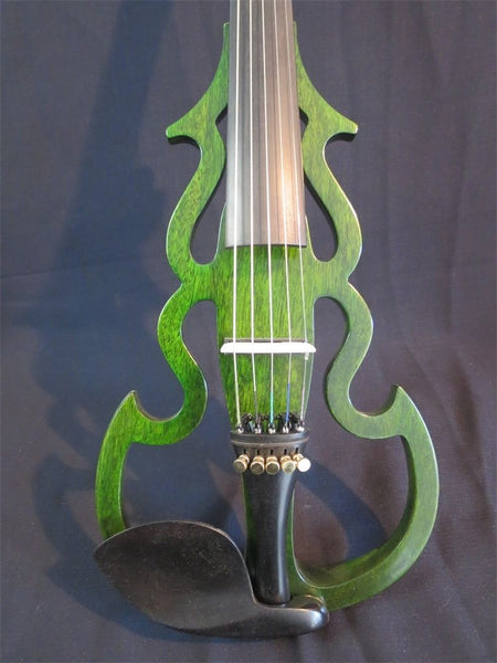 SONG Brand carved dragon scroll 5 strings 4/4 electric violin,solid