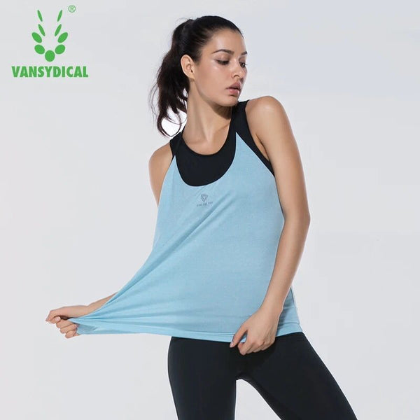 3fe214cf31ce3a ... Sexy Fitness Yoga Shirts Women Sleeveless Loose Sport Shirt Gym Clothes  Quick Dry Running Vest Sportswear ...