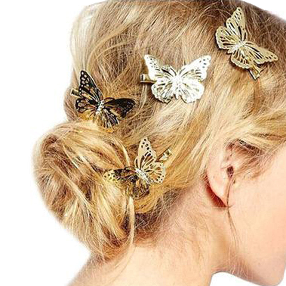 amaing coming golden butterfly hair accessories | kingelia