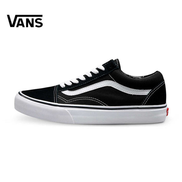 fc02c91734ca Vintage Original Vans Old Skool Classic Unisex Men s Women s Skateboarding  Canvas Fencing Shoes Couple Black Sports