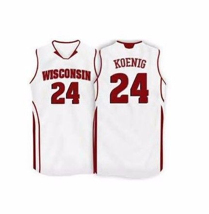 premium selection 0861b 31832 Wisconsin Badgers College # 24 Bronson Koenig retro #22 Ethan Happ jersey  #15 Sam Dekker jersey custom any size name and number