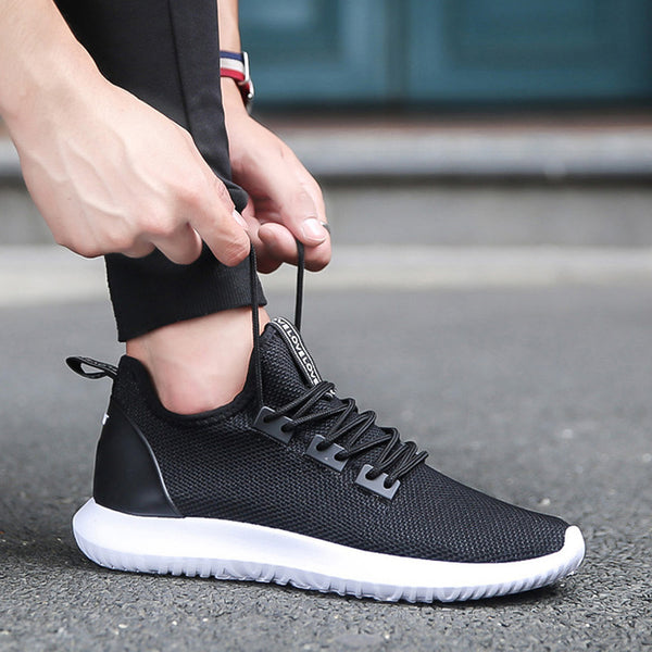 981510a47 ... XEK 2018 Light Running Sneakers For Men Yeezys Air Men Sports Shoes  Black Blue White Sneakers