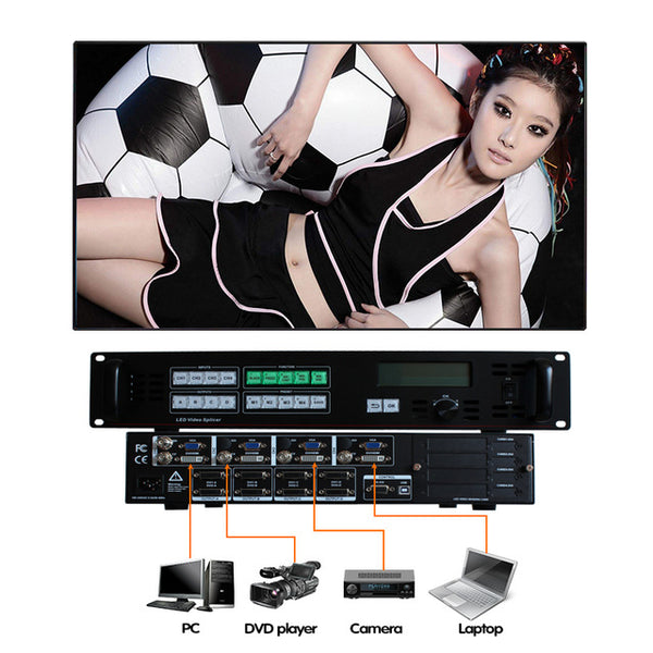 factory price AMS-SC368BS video controller led display controller led  screen scaler for large led screen