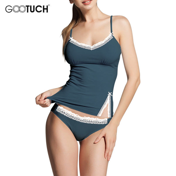 86aad321392f Sexy Pijamas Camisole & Panties Sets V-Neck Cotton Bundle Pajamas Women's  Sleepwear Spaghetti strap ...