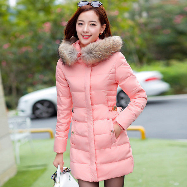 73f806169 2017 New Coats & Jackets Hooded Winter snow Jacket Women Fur collar ...
