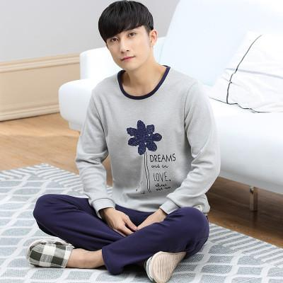 26ce362ecb ... Spring and Autumn Men Women Long Sleeve Sleepwear Femme Couple Pajamas  Set 100% cotton